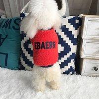 Herbst und Winter 2019 Neues Lammhaar mit Kapuze Bogen Nette Stickerei Pet Pullover Fette Hundekleidung