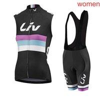 Liv Lady Summer Hidsize Wilding без рукавов джерси жилет нагрудник шорты набор езды одежда мода MTB быстро сухой спортивная одежда P62227