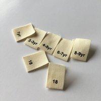 Größenetikett Bio Baumwollkennzeichnung DHL Versand 3000 stücke Benutzerdefinierte naturweiß weiß Baumwollbandschirm gedruckt Etiketten für Kleidung bedrucktes Etikett 12x40m