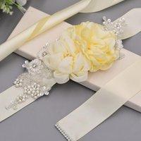 Wedding Sashes TRiXY S172 Exquisite Flower Belt For Women Pearls Beaded Bridal Belts Party Dress Sash Elegant Maternity