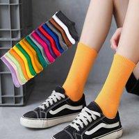 Salina damas calcetines invierno primavera año corto tubo ordinario moda 18 puro color colocación deportes ocio com jllnop