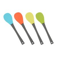 Baking & Pastry Tools 4pcs Kitchen Utensils Accessory: Accessory Silicone Spoons Easy Clean For Cooking Heat Resistant Mixing Non Stick Safe