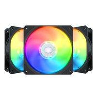 Cooler Master SickleFlow 140 ARGB 14 cm Fan Sync Sync Dirigable RGB 140MM PWM PWM CHASSIS DE COMPUTADORA DE COMPACIDIMIENTO Ventilador