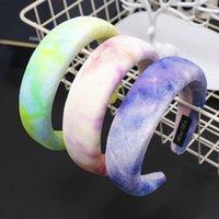 Hair Accessories For Girls Padded Velvet Headband Women Gradient Color Hairband Pearl Sponge Hoop Winter Hairbands