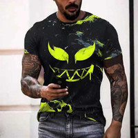 Oversized t Shirt for Men Casual Short Sleeve Hip Hop Smiling Face Print Pl Size Tee Pullover Mens T-shirt Top