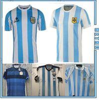 Maradona Argentina Retro 1986 Home 1994 98 Jersey di calcio Maradona 1978 1996 Camicia da calcio Batistuta 1998 Riquelme 2006 1994 Ortega