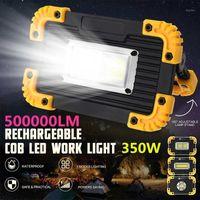 Lanternas portáteis 350W COB LED USB USB Carregando 5-8 horas de trabalho ao ar livre Spotlight Camping Buscarlight Recarregável Bettary Lamp1