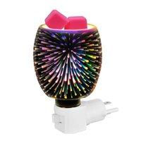 Ароматические лампы 3D Стеклянные масла диффузора премиум ультразвуковые масла увлажняющие с удивительным светодиодным ночью легкий без воскресного автоматического отключения