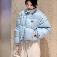 إمرأة جاكيتات قصيرة الأزياء أسفل معاطف الشتاء الفتيات العصرية ستر المعادن مثلث إلكتروني نمط للإزالة كم سترة