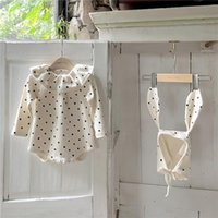 Jumpsuits 2021 Christmas Infant Baby Jumpsuit For Girl Long Sleeve Polka Dot Rompers Playsuits Autumn Cotton Kids Clothes Boys Outfits