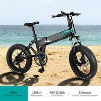 [EU-Aktie] Fiido M1 Pro-elektrisches Fahrrad 20-Zoll-Fettreifen 12.8Ah 48V 500W Falten-Moped-Fahrrad 50km / h Höchstgeschwindigkeit 130km Kilometerraum für den Außenbereich