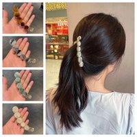 Solid Color Banana Hairclip Women Hair Claws Hairpins Hair Accessories Girls Ponytail Hoder Hair Clamp