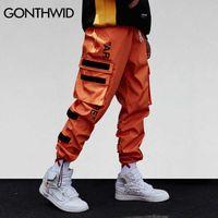 Gonthwid Homme Poches Side de Cargo Harem Pantalon Hip Hop Casual Homme Joggers Tatical Joggers Pantalons Fashion Casual Streetwear Pantalons 210825