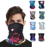 Велоспортные шапки маски езда на открытом воздухе Банданов дышащий волшебный ледяной шелковый платок ультрафиолетовое ультрафиолетовое шею на гайтером ветрозащитные пешеходные шарверы1