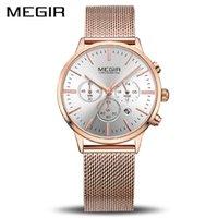 Megir бренд роскошные женщины часы мода кварцевые женские часы спортивные relogio Feminino часы наручные часы для любовников подруги 2011 210310