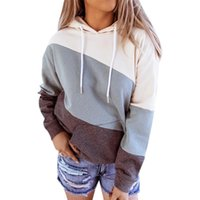 Women's Hoodies Sweatshirts VICABO Women Fall Long Sleeve O-Neck Drawstring Hooded Tops Casual Loose Tie Dyeing Print Female Pullovers Hoo