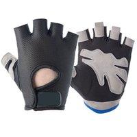 Gants de cyclisme d'été pour hommes et femmes Fitness Demi doigt Gants en plein air Gants de plein air respirant mince crème solaire