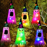 Glowing Halloween Holiday LED Lights Hat Can Be Worn on The Head or As A Pendant Witch Hat Garden Hotel Wedding Decoration