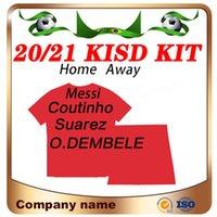 2020 # 10 Messi Kit Kit Home Soccer Jersey 20/21 Suarez Grieuzmann F. De Jong Chilit de football enfant Arthur o.Dembele Uniformes de football