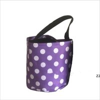 Halloween Bucket Party Kids Carry Baskets Candy Toy Sacks Gift Wrap Polka Dot Funny Trick or Treat Tote Storage Bags Festives HWD9116