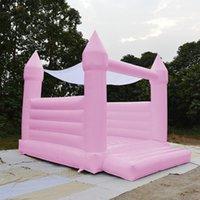 2021 Популярная любовь PVC надувной розовый синий зеленый отказов дома свадьба надувной замок замок вышибал декор декора навес
