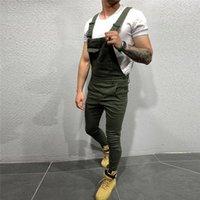 Erkekler için erkek kot adam pantolon erkekler için cep kot genel tulum serin tasarımcı marka streetwear seksi askı pantolon e21