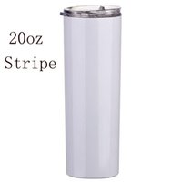 20oz Sublimation Slim Tumblers Straight Tapered blank white tumbler with lid straw car 20 oz Stainless steel vacuum insulated sippy cups