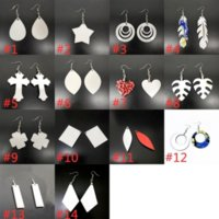 DIY Sublimation Blanks Earrings Designer Earrings Party Gifts DIY Valentines Day Gifts For Women 14 Style FY4386