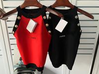 Moda Bayan Tasarımcı Tişörtleri Mektup Baskılı Camis Üst Kolsuz kadın Rahat Tees Hip Hop Streetwear Tişörtleri ST202104