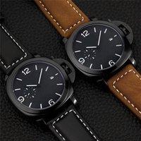 カレンダーメンズカジュアルな贅沢なメンズウォッチの明るいディスプレイカジュアルなミリタリーウォッチレザーストラップ腕時計モントトホム