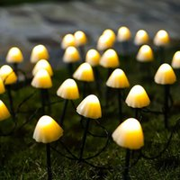 مصابيح الحديقة الصمام سلسلة الشمسية ضوء حديقة الديكور أضواء الفطر ip65 للماء جارلاند الفناء ديكور في الهواء الطلق الجنية