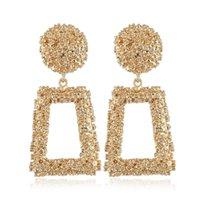 RAVINOUR Brand Design Punk Dangle Earrings Women Jewelry Big Geometric Metal Drop Earing Fashion Cocktail Earings for Girls 2021