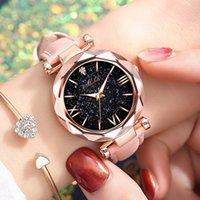 Designer Luxusmarke Uhren auf Sternen Frauen leuchtend charmanter kleiner Punkt Milchgürtel mit römischem Maßstab frauen