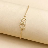 Charm Bracelets Kirykle 2021 Bracelet For Women Alloy Love Dog Claw Accessory Hollow Out Heart Chain Fashion Jewelry Gift