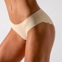 Women's Panties Women's Underwear Low Waist Underpants Briefs Sexy Ice Silk Seamless Lingerie -piece Nylon Shorts Pant