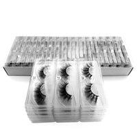 100 paia / confezione ciglia visualizzare con vassoio senza scatola fatti a mano naturale false ciglia full strip ciglia riutilizzabili