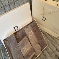 패션 럭셔리 목욕 타월 클래식 수건 패싯 면화 타월 세트 유니섹스 편지 패턴 흡수 물 수건