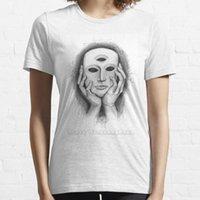 Camiseta de las mujeres que éramos dioses y nos hicieron esclavos de manga corta mujer de verano ropa de streets de la camiseta de la camiseta de los esclavos de Dios máscara de los rayones de la cubierta de los rayones tercero