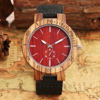 Montres-bracelets Yisuya Mens Wood Quartz Montres Simple Homme Homme Homme Casual Bracelet Homme Homme Homme Chronographe Drop Relogio Masculino