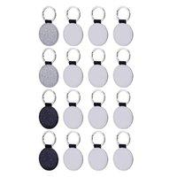 Chaveiros Kili 16 peças Sublimação Blanks Chaveiro Redondo Transferência de calor em branco para suprimentos de artesanato DIY