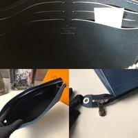 W4MT M30395 Bolsa de Embraiagem Royal Homens Azul Real Couro Longo Carteira Cadeia Cadeia Compact Bolsa Embreamento Titulares de Cartão Chave
