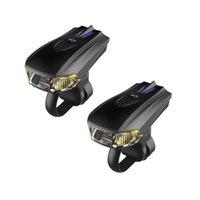 2 قطع تحذير ذكي التعريفي الاهتزاز USB شحن ليلة ركوب الدراجة الجبلية الخفيفة المعدات المصباح
