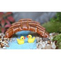 Jaune Duck Fairy Jardin Miniatures Accueil Ornement Poupée Jouet Pendentif Mousse Lichen Micro Paysage Natural Résine Arts Jluea Chaudslove