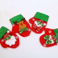 Christmas Decorations Children's Candy Gift Bag Restaurant Tableware Cover Tree Decoration Pendant