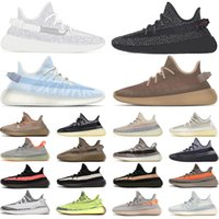 Wholesale Static Reflective Running Shoes Men Women Zebra Mono Ice Clay Cinder Earth Tail Light Mens Womens Sneakers Sports Size 36-48