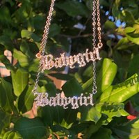Pendant Necklaces Babygirl Necklace For Women Mom Baby Girls Letter Initial Choker Name Fashion Jewelry Gifts Bijoux Femme BFF