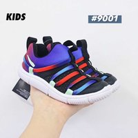 Top 2020 novato Little Kids Shoe Kids Novice Br Toddler Zapatillas de correr Novice PS Black Blue Blue Infant Sport Sneakers para Chico Chaussures