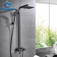 Torneira de misturador de banheiro de banho preto fosco de luxo FMHJFISD com torneiras de água