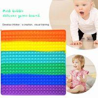 Hot Fidget Toys 40*40cm Super Large Size Party Rainbow Push Bubble POP Huge It Decompression Adults Kids Anti Stress Reliever Colorful Board Games