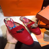 designer slippers women fashion leather outdoor beach casual versatile